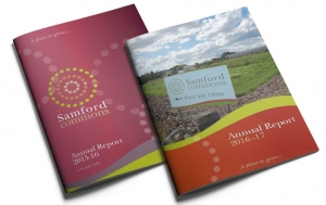 Samford Commons Annual report covers