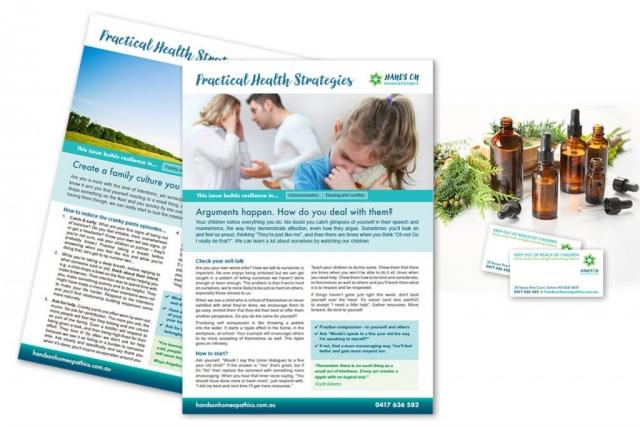 Info sheet design
