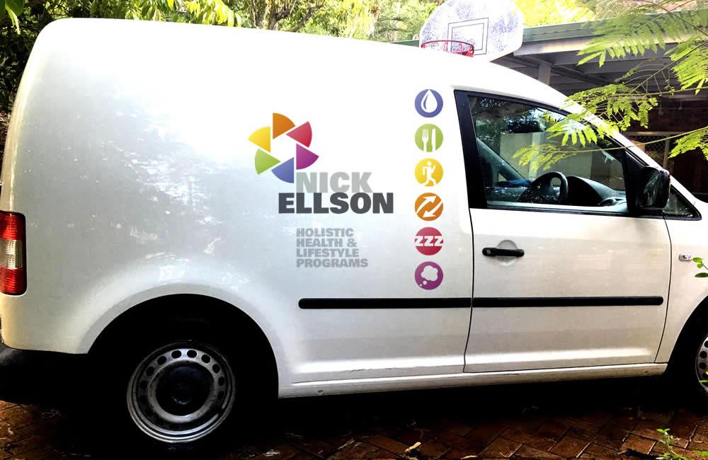 Vehicle signage for Nick Ellson