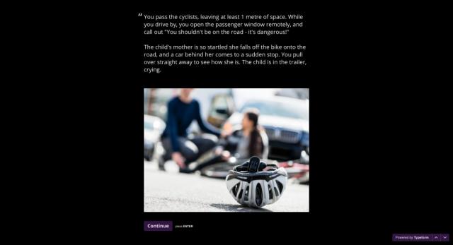 Screenshot - fallen cyclist