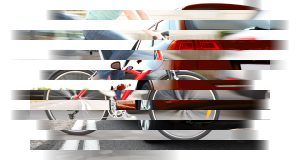 Car-bicycle collage