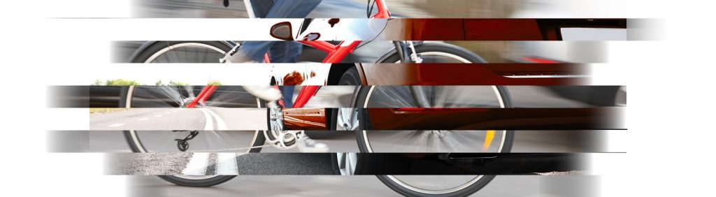 Car and bicycle collage