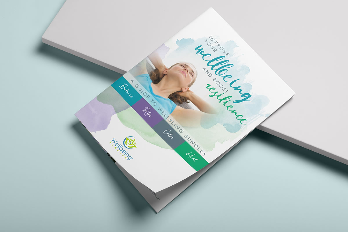cover of A5 brochure for wellbeing bundles