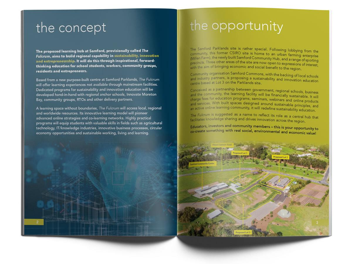 The Fulcrum brochure spread 1