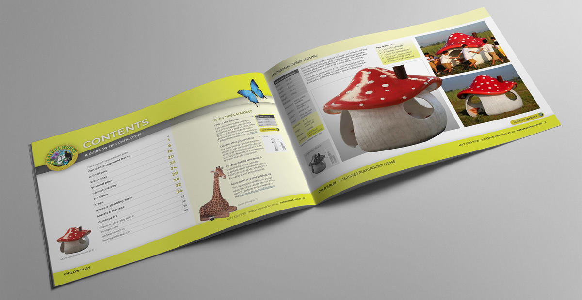Natureworks child's play catalogue spread